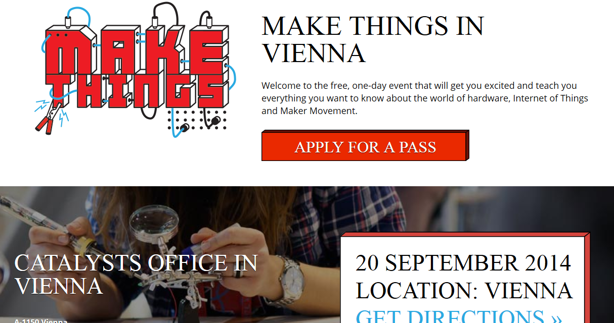 "20.9. ""Make Things"" in Wien – Gratis Workshops"