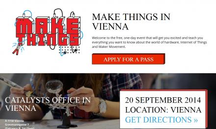 """20.9. """"Make Things"""" in Wien – Gratis Workshops"""
