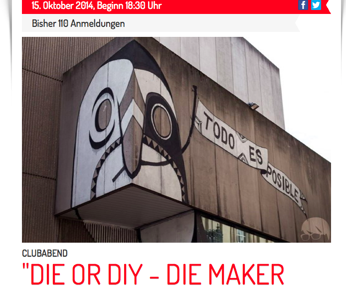 """15.10. """"DIE or DIY – Die Maker kommen"""""""