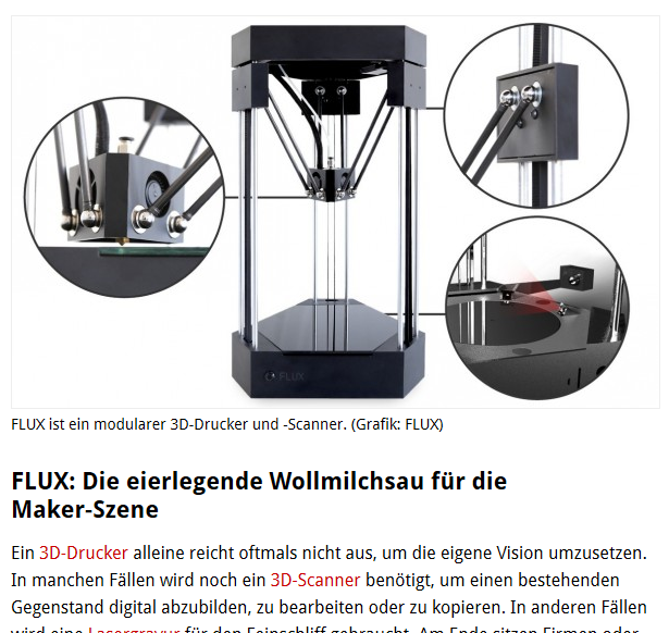 3D Scanner, Printer und Graveur