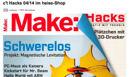 Neu: Make: statt c't Hacks