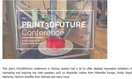 Bericht von der Print3DFuture Konferenz