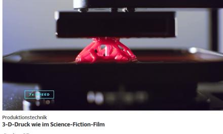 Eine neue 3-D-Druck-Technik lässt Gegenstände aus einer Plastikpfütze wachsen