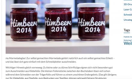 Tutorial: Etiketten für Marmeladegläser