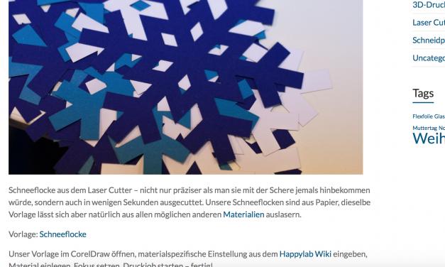 Tutorial: Schneeflocke aus dem Laser Cutter